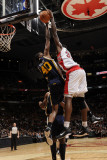 Utah Jazz v Toronto Raptors, Toronto, CA - March 9: Ed Davis and Jeremy Evans Photographic Print by Ron Turenne