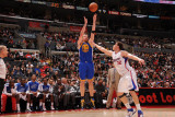 Golden State Warriors v Los Angeles Clippers, Los Angeles - January 9: David Lee and Blake Griffin Photographic Print by Noah Graham