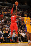 Atlanta Hawks v Los Angeles Lakers, Los Angeles, CA - February 22: Josh Smith and Ron Artest Photographic Print by Noah Graham