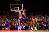 Milwaukee Bucks v New York Knicks, New York, NY - February 23: Carmelo Anthony and Andrew Bogut Photographic Print by Chris Trotman