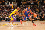 Detroit Pistons v Los Angeles Lakers, Los Angeles - January 4: Tracy McGrady and Kobe Bryant Photographic Print by Noah Graham