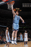 Memphis Grizzlies v Denver Nuggets, Denver - February 22: Marc Gasol Photographic Print by Garrett Ellwood
