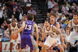 Phoenix Suns v New Jersey Nets, Newark, NJ - February 28: Steve Nash and Deron Williams Photographic Print by David Dow