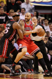 Chicago Bulls v Miami Heat, Miami, FL - March 06: Carlos Boozer and Eric Dampier Photographic Print by Mike Ehrmann