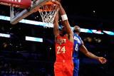 2011 NBA All Star Game, Los Angeles, CA - February 20: Kobe Bryant and LeBron James Photographic Print by Kevork Djansezian