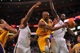 Los Angeles Lakers v Boston Celtics, Boston, MA - February 10: Kobe Bryant and Kevin Garnett Photographic Print by Brian Babineau