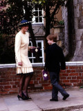 Princess Diana with Prince William Easter Sunday Church Service At Windsor, April 1992 Photographic Print