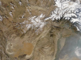 December 26, 2005, Satellite View of Afghanistan Photographic Print by  Stocktrek Images