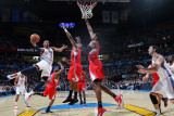 Los Angeles Clippers v Oklahoma City Thunder, Oklahoma City, OK - February 22: Russell Westbrook, R Photographic Print by Layne Murdoch