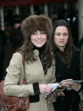 Prince Williams girlfriend Kate Middleton seen here arriving at the Cheltenham Festival on Gold Cup Photographic Print