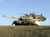 US Marines Provide Security in an M1A1 Abrams Tank Photographic Print by Stocktrek Images