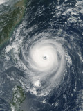 October 1, 2005, Typhoon Longwang Approaching Taiwan Photographic Print by Stocktrek Images