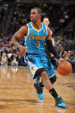 New Orleans Hornets v Denver Nuggets, Denver - January 9: Chris Paul Photographic Print by Garrett Ellwood