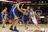 Golden State Warriors v Phoenix Suns, Phoenix, AZ - February 10: Steve Nash and Steve Nash Photographic Print by Christian Petersen