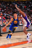 Golden State Warriors v Phoenix Suns, Phoenix, AZ - February 10: Jeremy Lin and Zabian Dowdell Photographic Print by P.A. Molumby