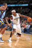 Memphis Grizzlies v Denver Nuggets, Denver - February 22: Al Harrington Photographic Print by Garrett Ellwood