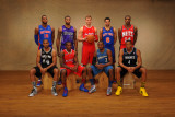 2011 NBA All Star: Greg Monroe, Gary Neal, DeMarcus Cousins, Eric Bledsoe, Blake Griffin, John Wall Photographic Print