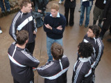 Prince William meets the All Blacks team at their Auckland training centre, July 2005 Photographic Print