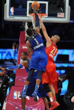 2011 NBA All Star Game, Los Angeles, CA - February 20: Amar'e Stoudemire and Tim Duncan Photographic Print by Noah Graham