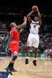 Chicago Bulls v Atlanta Hawks, Atlanta, GA - March 2: Joe Johnson and Keith Bogans Photographic Print by Scott Cunningham