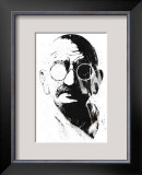 Gandhi Framed Giclee Print by Alex Cherry