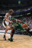 Boston Celtics v Utah Jazz, Salt Lake City, UT - February 28: Paul Pierce and Andrei Kirilenko Photographic Print by Melissa Majchrzak