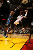 Orlando Magic v Miami Heat, Miami, FL - March 3: Dwyane Wade and Dwight Howard Photographic Print by Issac Baldizon