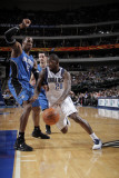 Orlando Magic v Dallas Mavericks, Dallas, TX - January 8: Dominique Jones and Dwight Howard Photographic Print by Glenn James