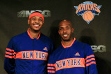 New York Knicks Introduce Carmelo Anthony, New York, NY - February 23: Carmelo Anthony and Chauncy  Photographic Print by Chris Trotman
