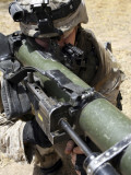 A Marine Using the Shoulder-Launched Multi-Purpose Assault Weapon Photographic Print by  Stocktrek Images