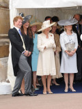 Members of the Royal Family attending the service for the Most Noble Order of the Garter at St Geor Photographic Print