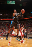 Orlando Magic v Miami Heat, Miami, FL - March 3: Dwight Howard Photographic Print by Victor Baldizon