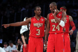 2011 NBA All Star Game, Los Angeles, CA - February 20: Chris Paul and Kobe Bryant Photographie par Jeff Gross