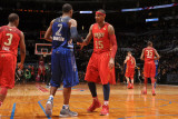 2011 NBA All Star Game, Los Angeles, CA - February 20: Carmelo Anthony and Joe Johnson Photographic Print by Noah Graham