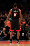 Miami Heat v New York Knicks, New York, NY - January 27: LeBron James Fotografie-Druck von Chris Trotman