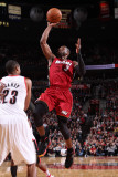 Miami Heat v Portland Trail Blazers, Portland, OR - January 9: Marcus Camby and Dwayne Wade Photographic Print by Sam Forencich