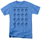 Star Trek-Many Moods Of Spock T-shirts