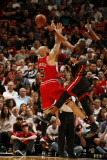 Chicago Bulls v Miami Heat, Miami, FL - March 6: Dwyane Wade and Carlos Boozer Photographic Print by Issac Baldizon