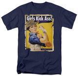 Western Girls Kick Ass T-shirts