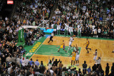 Los Angeles Lakers v Boston Celtics, Boston, MA - February 10: Ray Allen and Ron Artest Photographic Print by Steve Babineau