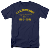 Star Trek-Enterprise Athletic T-shirts