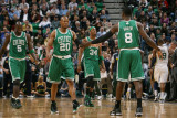 Boston Celtics v Utah Jazz, Salt Lake City, UT - February 28: Jeff Green and Ray Allen Photographic Print by Melissa Majchrzak