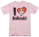 Archie Comics-I Love Redheads T-shirts