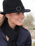 Kate Middleton arrives at Cheltenham Racecourse in Gloucstershire for the final day of racing at Na Photographic Print