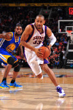 Golden State Warriors v Phoenix Suns, Phoenix, AZ - February 10: Grant Hill Photographic Print by P.A. Molumby