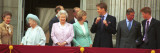 Royal Family on Queen Mother's 100th Birthday, Friday August 5, 2001 Fotografisk tryk