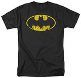 Batman-Classic Logo Distressed T-shirts