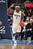 Memphis Grizzlies v Denver Nuggets, Denver - February 22: Ty Lawson Photographic Print by Garrett Ellwood