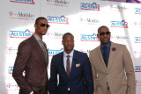 2011 NBA All Star Game, Los Angeles, CA - February 20: Chris Bosh, Dwyane Wade and LeBron James Photographic Print by Bill Baptist