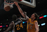 Utah Jazz v Los Angeles Lakers, Los Angeles, CA - January 25: Pau Gasol and Paul Millsap Photographic Print by Jeff Gross